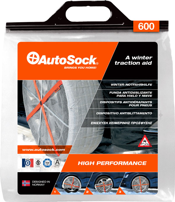 Textilní sněhové řetězy AutoSock pro osobní auta